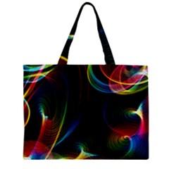 Abstract Rainbow Twirls Zipper Mini Tote Bag
