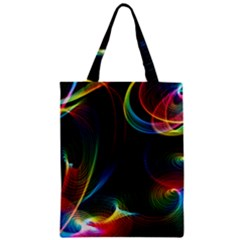 Abstract Rainbow Twirls Zipper Classic Tote Bag