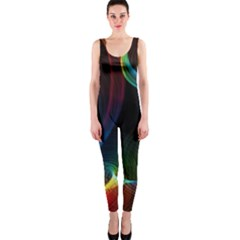 Abstract Rainbow Twirls Onepiece Catsuit