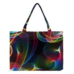 Abstract Rainbow Twirls Medium Tote Bag