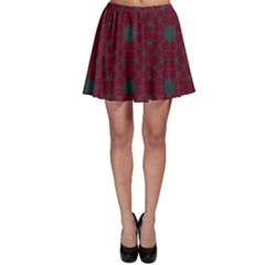 Blue Hot Pink Pattern With Woody Circles Skater Skirt