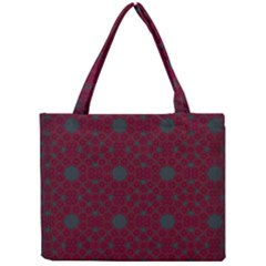 Blue Hot Pink Pattern With Woody Circles Mini Tote Bag