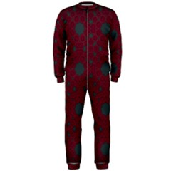 Blue Hot Pink Pattern With Woody Circles Onepiece Jumpsuit (men)