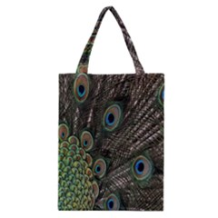 Close Up Of Peacock Feathers Classic Tote Bag