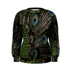 Close Up Of Peacock Feathers Women s Sweatshirt