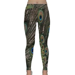 Close Up Of Peacock Feathers Classic Yoga Leggings