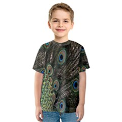 Close Up Of Peacock Feathers Kids  Sport Mesh Tee