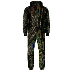 Close Up Of Peacock Feathers Hooded Jumpsuit (men)
