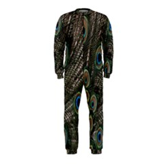 Close Up Of Peacock Feathers Onepiece Jumpsuit (kids)