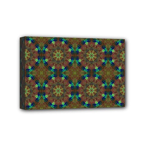 Seamless Abstract Peacock Feathers Abstract Pattern Mini Canvas 6  X 4