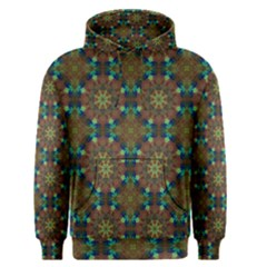 Seamless Abstract Peacock Feathers Abstract Pattern Men s Pullover Hoodie
