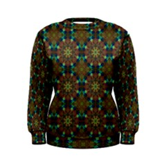 Seamless Abstract Peacock Feathers Abstract Pattern Women s Sweatshirt