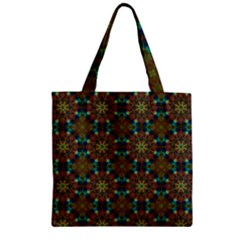 Seamless Abstract Peacock Feathers Abstract Pattern Zipper Grocery Tote Bag