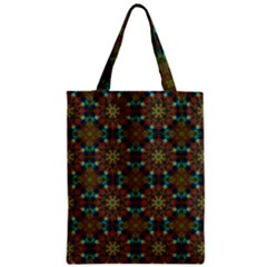 Seamless Abstract Peacock Feathers Abstract Pattern Zipper Classic Tote Bag