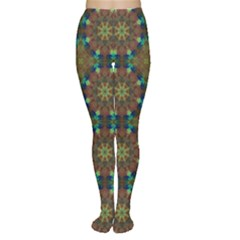 Seamless Abstract Peacock Feathers Abstract Pattern Women s Tights