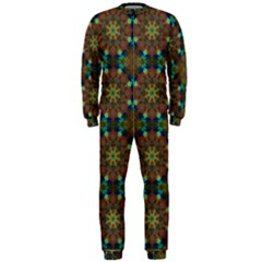 Seamless Abstract Peacock Feathers Abstract Pattern Onepiece Jumpsuit (men)
