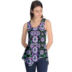 Fantasy Flower Forest  In Peacock Jungle Wood Sleeveless Tunic