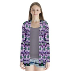 Fantasy Flower Forest  In Peacock Jungle Wood Cardigans