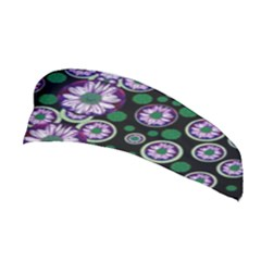 Fantasy Flower Forest  In Peacock Jungle Wood Stretchable Headband