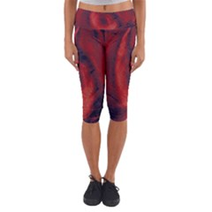 Blood Waterfall Capri Yoga Leggings