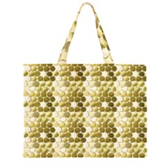 Cleopatras Gold Zipper Large Tote Bag