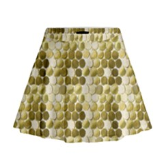 Cleopatras Gold Mini Flare Skirt