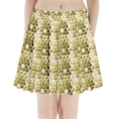 Cleopatras Gold Pleated Mini Skirt
