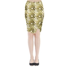 Cleopatras Gold Midi Wrap Pencil Skirt