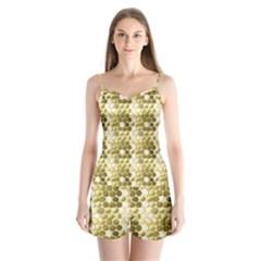 Cleopatras Gold Satin Pajamas Set