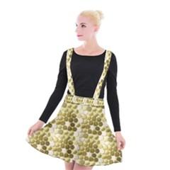 Cleopatras Gold Suspender Skater Skirt