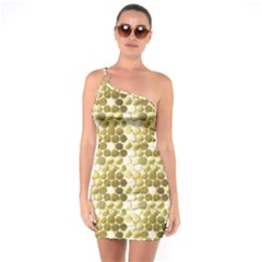 Cleopatras Gold One Soulder Bodycon Dress