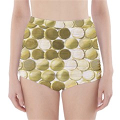 Cleopatras Gold High Waisted Bikini Bottoms