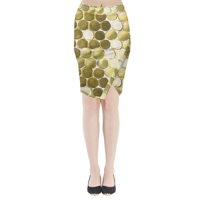 Cleopatras Gold Midi Wrap Pencil Skirt
