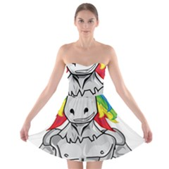 Angry Unicorn Strapless Bra Top Dress