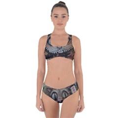 Cheshire Cat Criss Cross Bikini Set