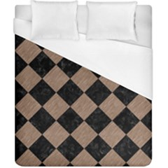 Square2 Black Marble & Brown Colored Pencil Duvet Cover (california King Size)