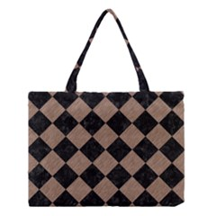 Square2 Black Marble & Brown Colored Pencil Medium Tote Bag