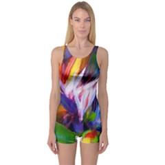 Palms02 One Piece Boyleg Swimsuit