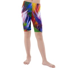 Palms02 Kids  Mid Length Swim Shorts