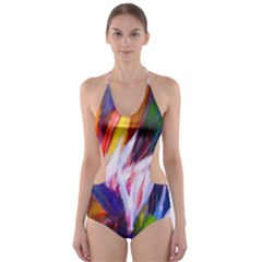 Palms02 Cut Out One Piece Swimsuit