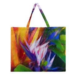 Palms02 Zipper Large Tote Bag