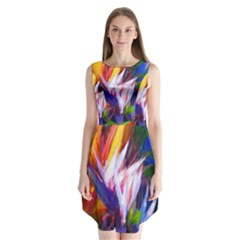 Palms02 Sleeveless Chiffon Dress