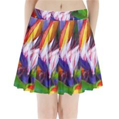 Palms02 Pleated Mini Skirt