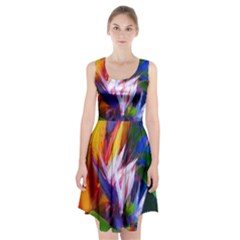 Palms02 Racerback Midi Dress