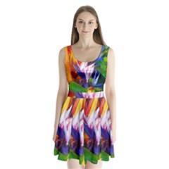 Palms02 Split Back Mini Dress