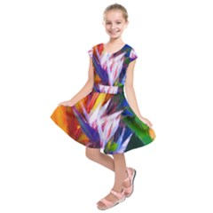 Palms02 Kids  Short Sleeve Dress