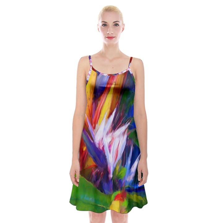 Palms02 Spaghetti Strap Velvet Dress