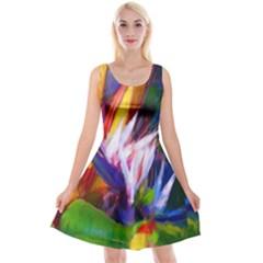 Palms02 Reversible Velvet Sleeveless Dress