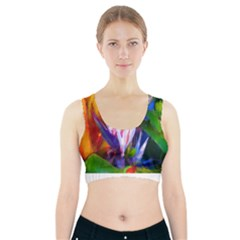 Palms02 Sports Bra With Pocket