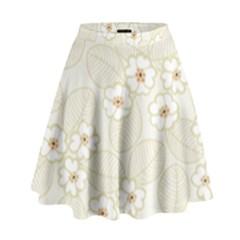 Flower Floral Leaf High Waist Skirt
